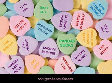 PANDAS SUCKS Valentine Hearts